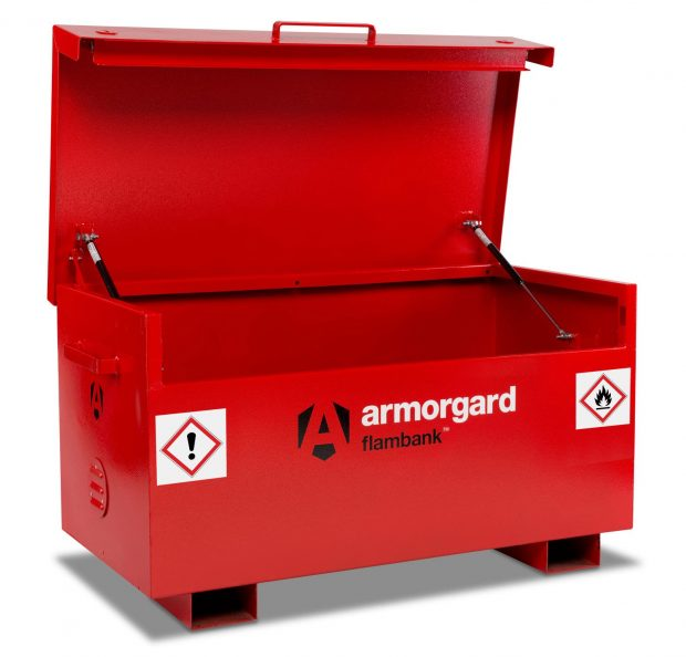 Oxtrad Tools Ltd Armorgard FB2 FlamBank Hazardous Chemicals and Flammables Site Box
