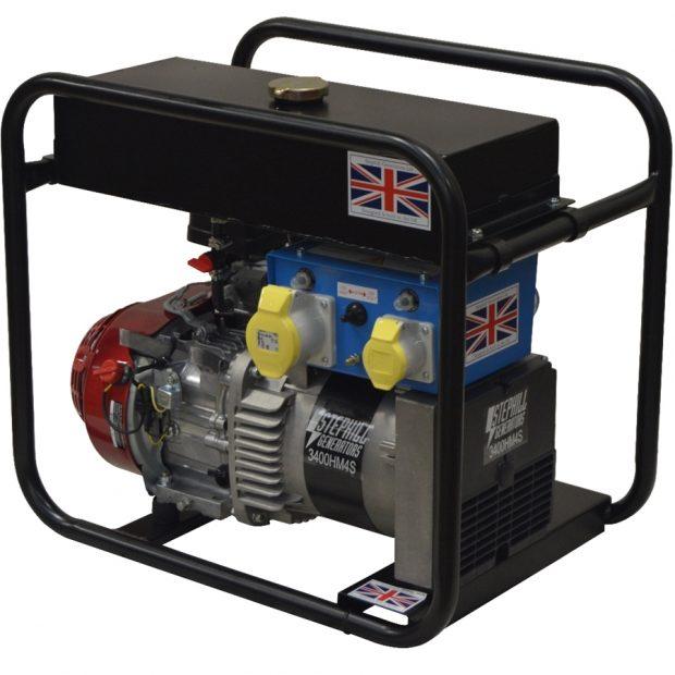 Oxtrad Tools Ltd Stephill 3400HM4SLR Petrol Long Run Generator 3.4kva/2.7kw Honda GX200 3400HM4SLR