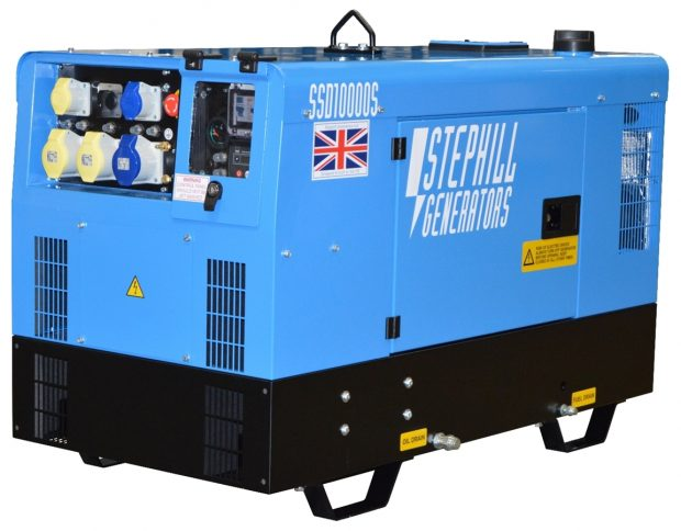 Oxtrad Tools Ltd Stephill SSD10000S Super Silent 10kva 8kw Skid Mounted Generator