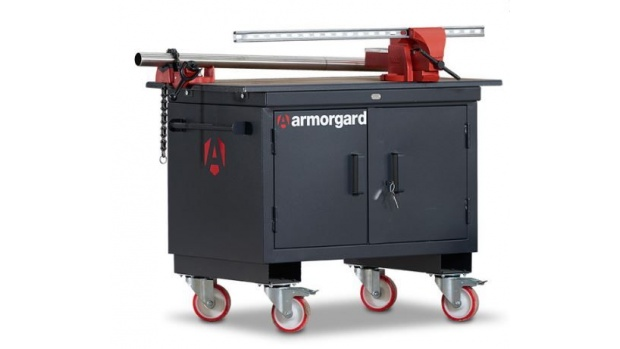 Oxtrad Tools Ltd Armorgard Mobile Tuffbench BH1270M-VF Wooden Top and Vices