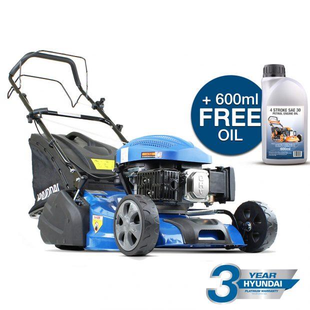 Oxtrad Tools Ltd Hyundai HYM460SPR Petrol Roller Lawn Mower 46cm
