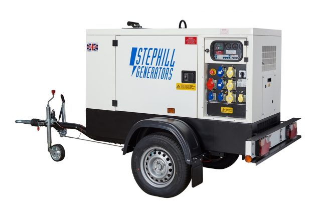 Oxtrad Tools Stephill SSDK12MRT Road Towable Multi Phase Generator 12kVA 9.6kW is an extremely versatile super silent multi-phase generators