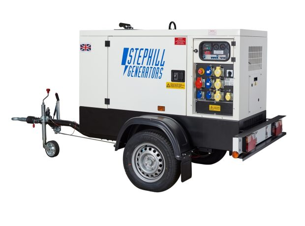 Oxtrad Tools Stephill SSDK16MRT Road Towable Multi Phase Generator 16kVA 12.8kW