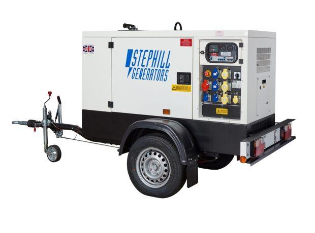 Oxtrad Tools Stephill SSDK16MRT Road Towable Multi Phase Generator 16kVA 12.8kW