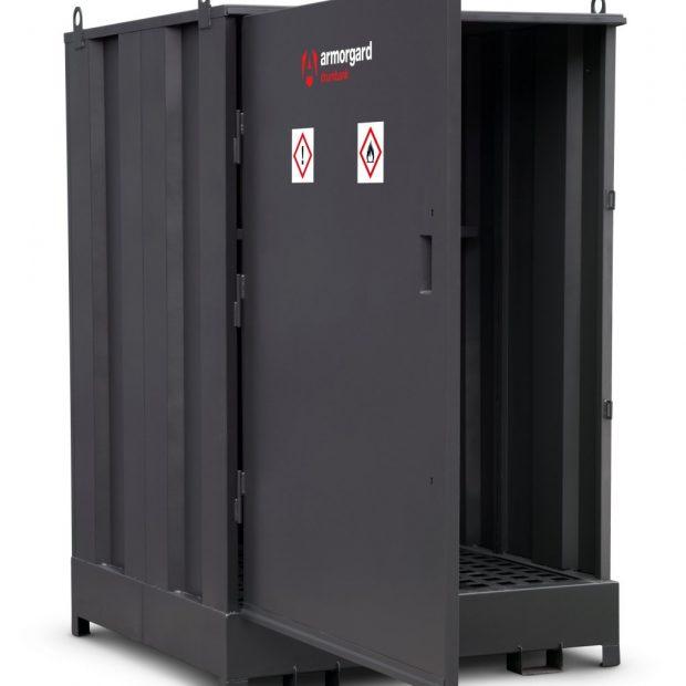 Oxtrad Tools Armorgard DrumBank 4 Drum Enclosed Storage Unit c/w Shelf DB4S
