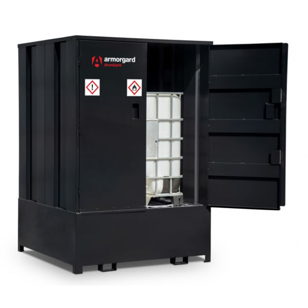 Oxtrad Tools Armorgard DrumBank Enclosed Storage Unit for IBC Containers DBIBC1
