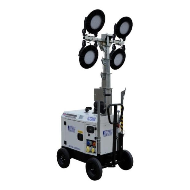Oxtrad Tools Ltd Stephill SLT5000 Mini LED Lighting Tower Trolley Mounted