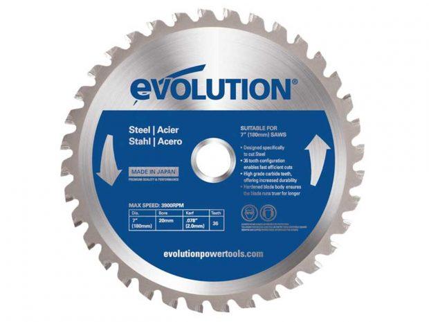 Oxtrad Tools Ltd Evolution Thin Steel Cutting Circular Saw Blade 180 x 2 x 20mm x 36T