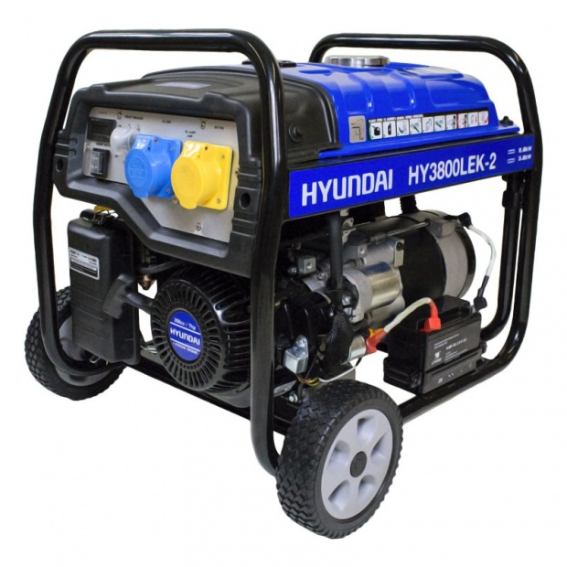 Oxtrad Tools Ltd Hyundai HY3800LEK-2 Electric Start Petrol Generator 3.2kW 4.0kVA