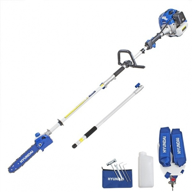 Oxtrad Tools Ltd Hyundai HYPS5200X 52cc Long Reach Petrol Pole Saw Pruner Chainsaw