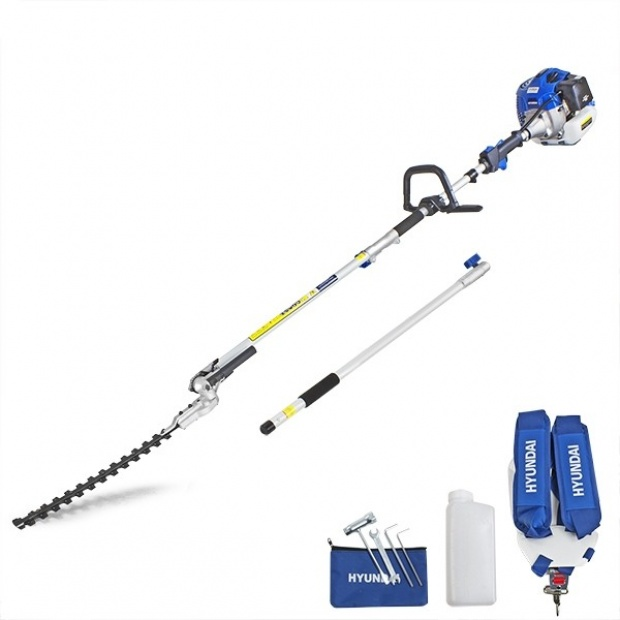 Oxtrad Tools Ltd Hyundai HYPT5200X 52cc Long Reach Petrol Pole Hedge Trimmer Pruner