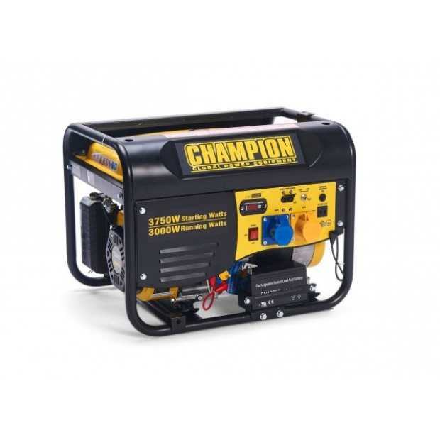 Oxtrad Tools Ltd Champion Petrol Portable Electric Start Generator 3500w CPG4000E1 1