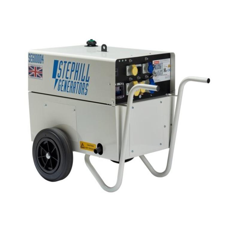 Oxtrad Tools Ltd Stephill SE6000D4 Silent Diesel Generator 4.8kw 6kva