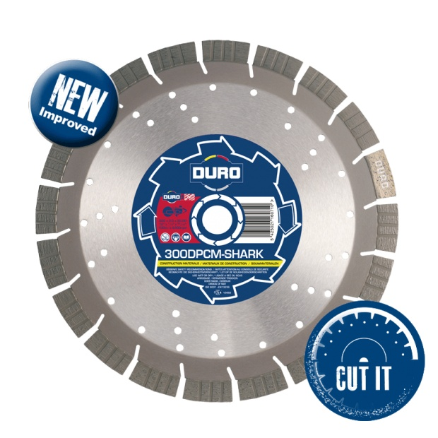 Oxtrad Tools Ltd Duro 300DPCM SHARK Diamond Construction Material Blade 300mm x 20mm