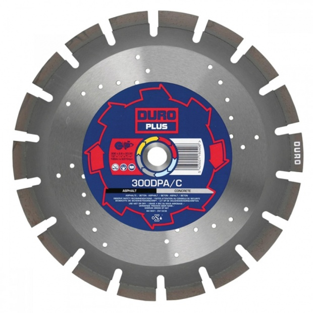 Oxtrad Tools Ltd Duro 300DPA/C Diamond Concrete and Asphalt Blade 300mm x 20mm